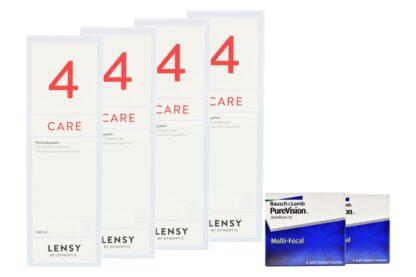 Pure Vision Multifocal 2 x 6 Monatslinsen + Lensy Care 4 Halbjahres-Sparpaket