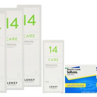 SofLens Multi-Focal 2 x 6 Monatslinsen + Lensy Care 14 Halbjahres-Sparpaket