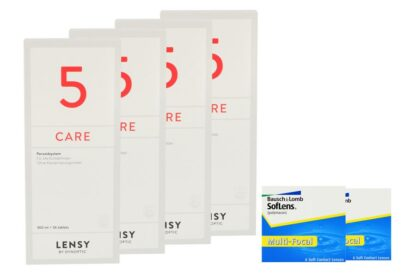 SofLens Multi-Focal 2 x 6 Monatslinsen + Lensy Care 5 Halbjahres-Sparpaket