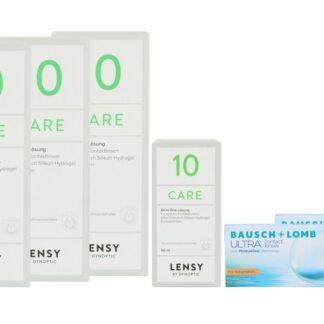 Ultra for Astigmatism 2 x 6 Monatslinsen + Lensy Care 10 Halbjahrespaket