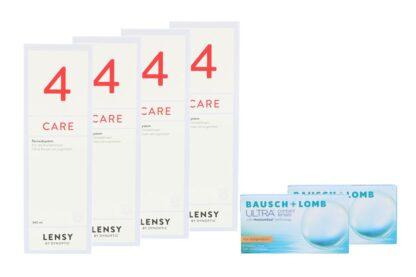 Ultra for Astigmatism 2 x 6 Monatslinsen + Lensy Care 4 Halbjahrespaket