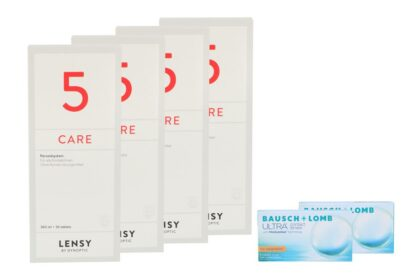 Ultra for Astigmatism 2 x 6 Monatslinsen + Lensy Care 5 Halbjahres-Sparpaket