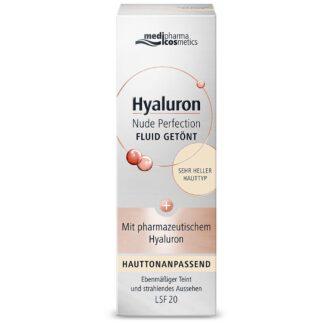 medipharma cosmetics Hyaluron Nude Perfection Fluid getönt LSF 20 sehr heller Hauttyp