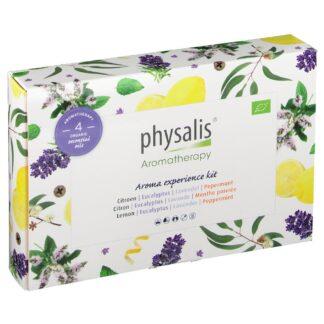 physalis® Aroma experience kit Zitrone Eukalyptus Lavendel Pfefferminz