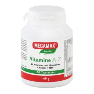 MEGAMAX Vitamine A-Z+Q10+Lutein Tabletten