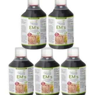Effektive Mikroorganismen EM's - 500ml Vorratspaket 5 x 500ml (24 Bakterienkulturen)