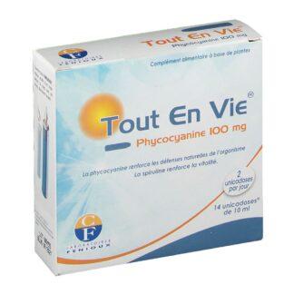 Tout en vie® Phycocyanine en ampoules de 100 mg