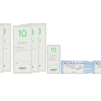 Acuvue Oasys 8 x 6 Zwei-Wochenlinsen + Lensy Care 10 Jahres-Sparpaket