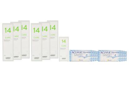 Acuvue Oasys 8 x 6 Zwei-Wochenlinsen + Lensy Care 14 Jahres-Sparpaket
