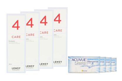 Acuvue Oasys for Astigmatism 4 x 6 Zwei-Wochenlinsen + Lensy Care 4 Halbjahres-Sparpaket