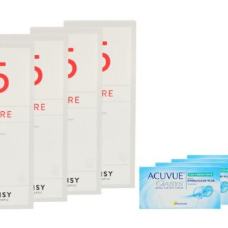 Acuvue Oasys for Presbyopia 4 x 6 Zwei-Wochenlinsen + Lensy Care 5 Halbjahres-Sparpaket