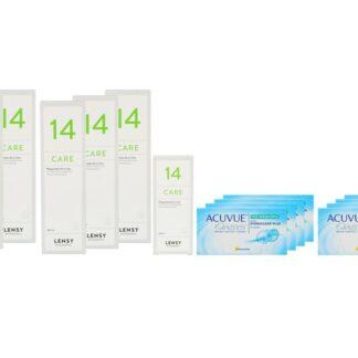 Acuvue Oasys for Presbyopia 8 x 6 Zwei-Wochenlinsen+ Lensy Care 14 Jahres-Sparpaket