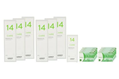 Fusion 7 Days Astigma 8 x 12 Wochenlinsen + Lensy Care 14 Jahres-Sparpaket