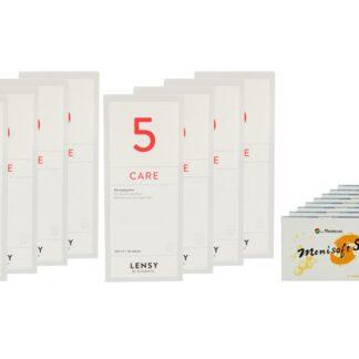 Menisoft S 8 x 6 Zwei-Wochenlinsen + Lensy Care 5 Jahres-Sparpaket