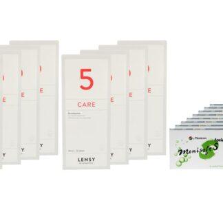 Menisoft S toric 8 x 6 Zwei-Wochenlinsen + Lensy Care 5 Jahres-Sparpaket