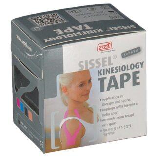 Sissel® Kinesiology Tape Schwarz 5 cm x 5 cm