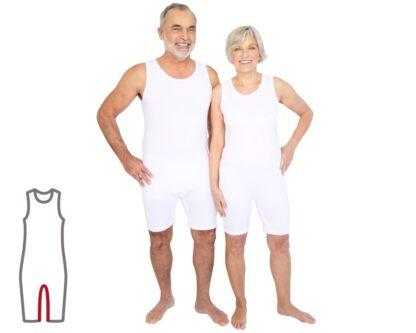 ActivePro Pflegebody ärmellos Beinreißverschluss
