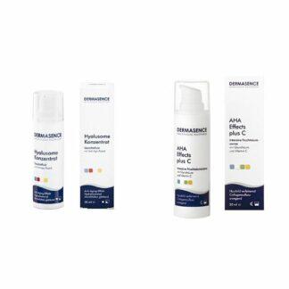 DERMASENCE Hyalusome Concentré + AHA Effects Plus C Crème intensive