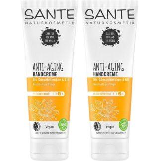 SANTE Naturkosmetik Anti-Aging Creme mains Double pack