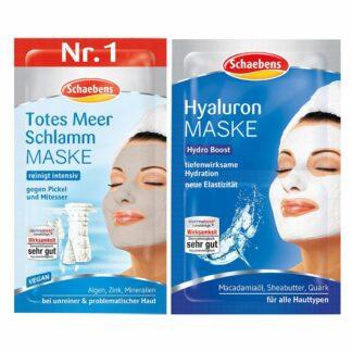 Schaebens Totes Meer Schlamm Maske + Schaebens Hyaluron Maske