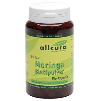 allcura Moringa Blattpulver Bio Kapseln