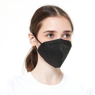 Disposable Face Masks - 100 Pack - Black