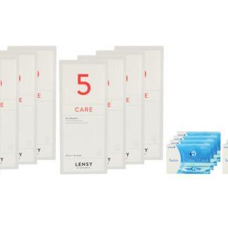 Fusion 7 Days 8 x 12 Wochenlinsen + Lensy Care 5 Jahres-Sparpaket