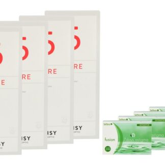 Fusion 7 Days Astigma 4 x 12 Wochenlinsen + Lensy Care 5 Halbjahres-Sparpaket