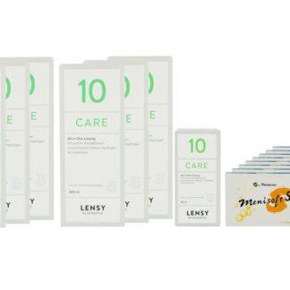 Menisoft S 8 x 6 Zwei-Wochenlinsen + Lensy Care 10 Jahres-Sparpaket