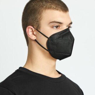 Premium K95 Black Disposable Face Masks - 100 Mask
