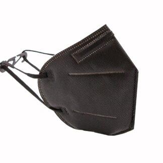 Solid Black Disposable Face Masks KF95 Face Masks - Black