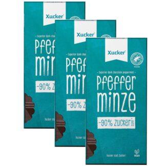 Xucker® Edelbitter Schokolade Pfefferminz